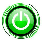 Grüner kreis glänzend energiesymbol — Stockfoto
