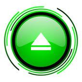 Werfen sie glänzend grüne kreissymbol aus — Stockfoto