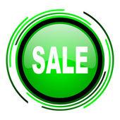 Icono brillante venta círculo verde — Foto de Stock