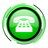 Ikona telefonu zielone kółko — Zdjęcie stockowe