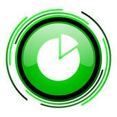 Diagramm grüner kreis glossy ii — Stockfoto