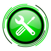 Tools green circle glossy icon — Stock Photo