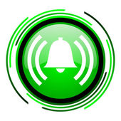 Alarm green circle glossy icon — Stock Photo