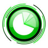 Grüner kreis glänzend diagrammsymbol — Stockfoto
