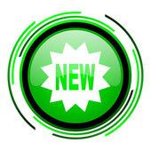 Nuevo icono de círculo verde brillante — Foto de Stock