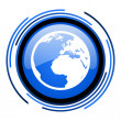 Stock Photo: Earth circle blue glossy icon