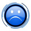 Stock Photo: Cry circle blue glossy icon