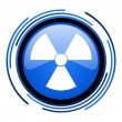 Stock Photo: Radiation circle blue glossy icon