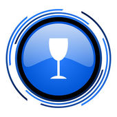 ícone brilhante círculo azul — Foto Stock