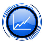 Diagramm blau glänzend kreissymbol — Stockfoto
