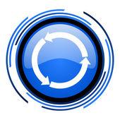 "Kreis blau glänzende symbol ""aktualisieren — Stockfoto"