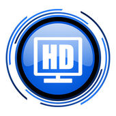 Hd display blau glänzend kreissymbol — Stockfoto