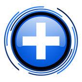 Emergency circle blue glossy icon — Stockfoto
