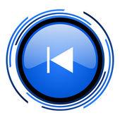 Prev blau glänzend kreissymbol — Stockfoto