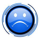 Cry circle blue glossy icon — Stock Photo