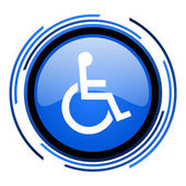 Accessibility circle blue glossy icon — Stock Photo