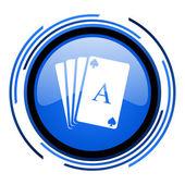 Spielkarten kreis blau glossy ii — Stockfoto
