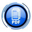 Stock Photo: Pdf circle blue glossy icon