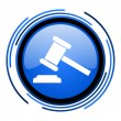 Law circle blue glossy icon — Stock Photo