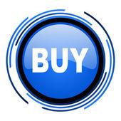 Kaufen sie blau glänzend kreissymbol — Stockfoto