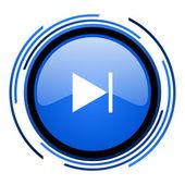 Nächste blau glänzend kreissymbol — Stockfoto