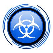 Virus circle blue glossy icon — Stock Photo