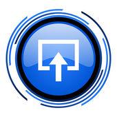 Insira o ícone de círculo azul brilhante — Foto Stock
