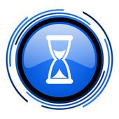 Time circle blue glossy icon — Stock Photo
