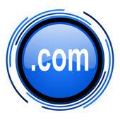 ícone de lustroso com círculo azul — Foto Stock