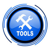 Tools circle blue glossy icon — Stock Photo