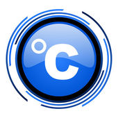 Celsius circle blue glossy icon — Stock Photo