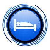 Hotel blau glänzend kreissymbol — Stockfoto