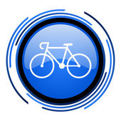 Bicycle circle blue glossy icon — Stock Photo