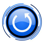 Rotate circle blue glossy icon — Stock Photo