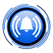 Alarm circle blue glossy icon — Stock Photo