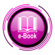 Stock Photo: E-book icon
