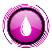 Water drop icon — Stock Photo