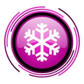 Snowflake icon — Stock Photo