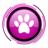 Animal footprint icon — 图库照片
