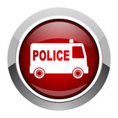 Police icon — Stock Photo