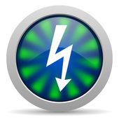 Lightning icon — Stock Photo