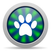 Animal footprint icon — Stok fotoğraf