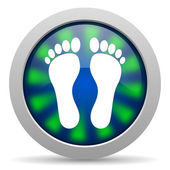 Footprint icon — Stockfoto