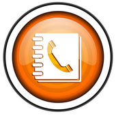 Phonebook icon — Stock Photo