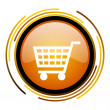 Shopping cart icon — Stock Photo #27397953
