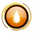 Water drop icon — Stock Photo #27399717