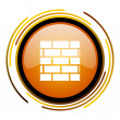 Firewall icon — Stock Photo #27400211