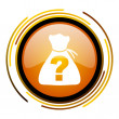 Riddle icon — Foto Stock