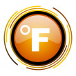 Stock Photo: Fahrenheit icon