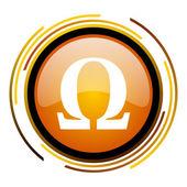 Omega simgesini — Stok fotoğraf
